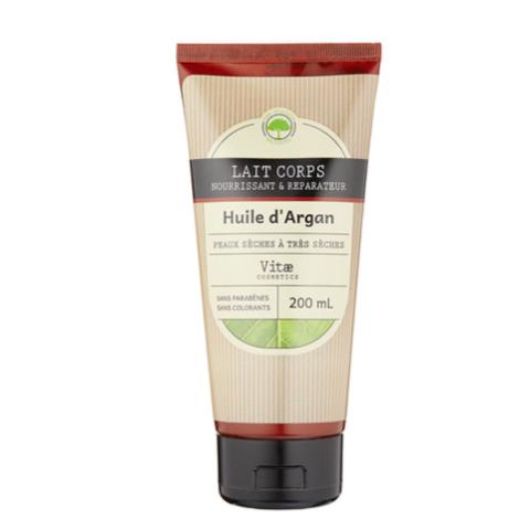 Vitae Cosmetics – Lait corps nourrissant à l'huile d'argan – 200mL
