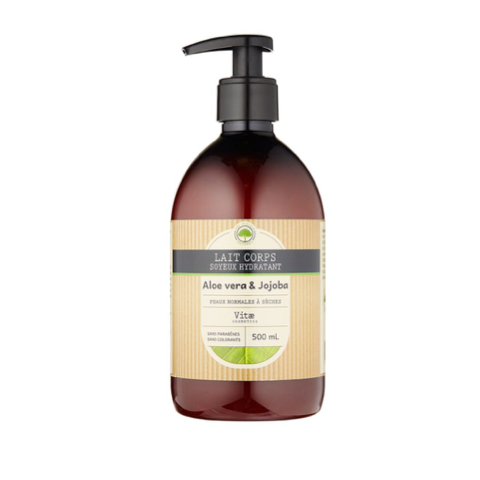 Vitae Cosmetics – Lait corps hydratant Aloe vera – 500mL