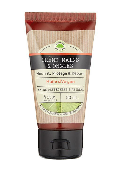 Vitae Cosmetics – Crème main à l'huile d'argan – 50mL