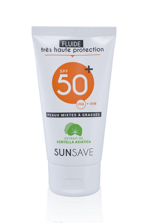 SUNSAVE - Fluide solaire visage SPF 50, 50mL