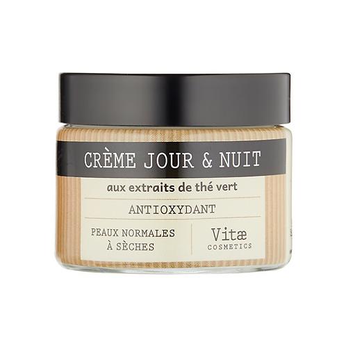 Vitae Cosmetics – Crème hydratante jour et nuit au thé vert – 50mL