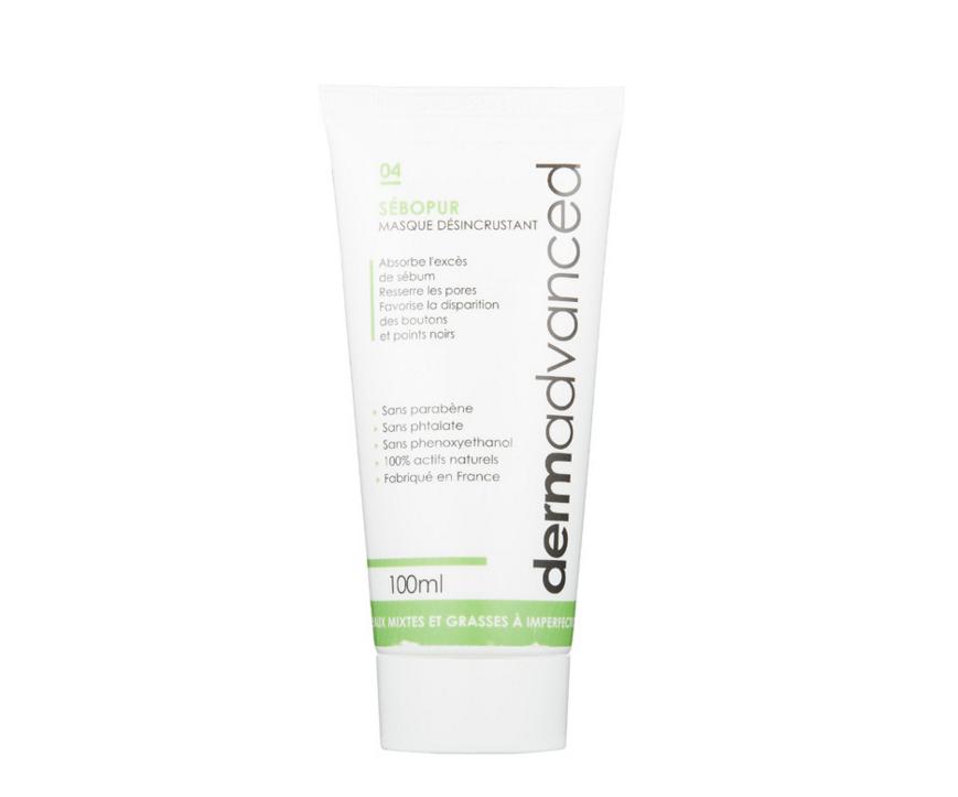 Masque désincrustant à l'argile verte Dermadvanced pour purifier la peau