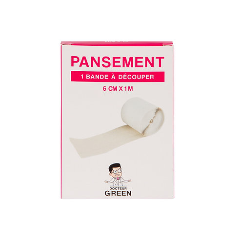 Dr Green – Pansements bande à découper 1m x 6cm