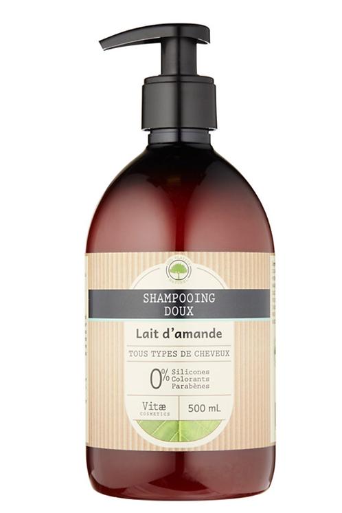 Vitae Cosmetics - Shampoing doux au lait d'amande - 500ml