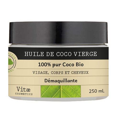 Vitae Cosmetics – Huile de Coco vierge biologique – 250mL