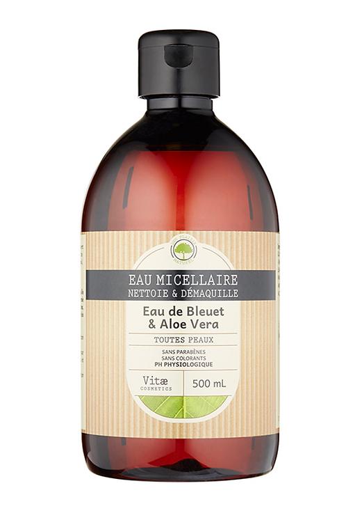 Vitae Cosmetics – Eau micellaire à l'eau de Bleuet et Aloe vera – 500mL LOT 2