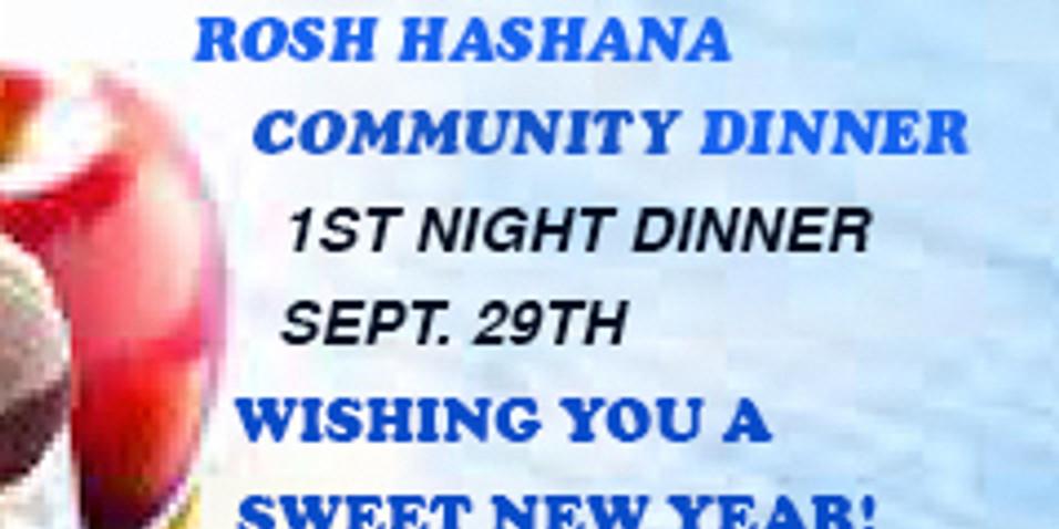 Rosh Hashana Dinner 1st Night Sept. 29th