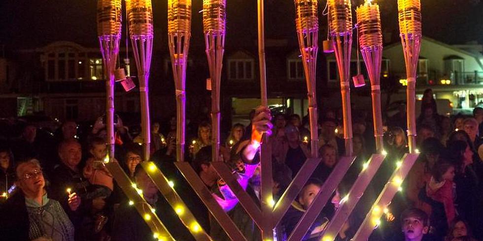 Chanukah Soirée & Menorah Lighting Ceremony, Dinner, Live Music, Levitate Band