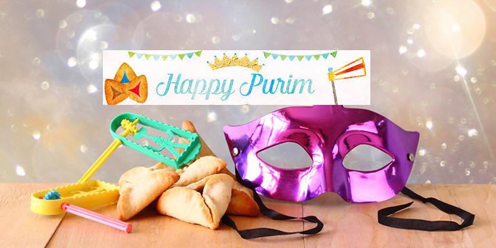 Purim 3/9 & 3/10  Party, Festive Dinners, Megillah Readings  (1)