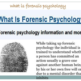 Mental control from Non Political Mind and Forensic Psychology, look-in