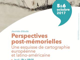 Jornadas de estudio: Perspectivas postmemoriales: un esbozo de cartografía europea y latinoamericana