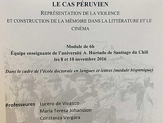 Seminario de doctorado: Littérature et Terrorisme, le cas péruvien. Représentation de la violence et