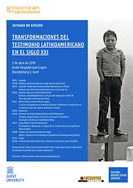 Seminario y jornada de estudio: Transformaciones del testimonio latinoamericano en el siglo XXI