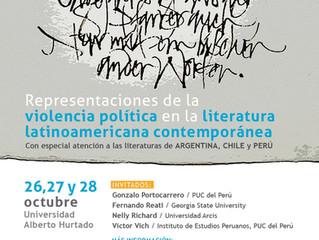 Simposio: Representaciones de la violencia política en la literatura latinoamericana contemporánea (