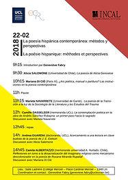 Seminario: La poesía hispánica contemporánea: métodos y perspectivas