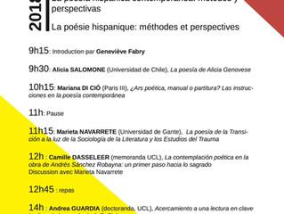 """Seminario: """"La poesía hispánica contemporánea: métodos y perspectivas""""."""