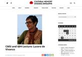 Conferencia: Tres veces muertos. Narrativas para la justicia y la reparación de la violencia simbóli
