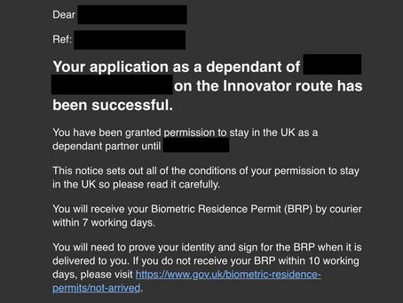 有幸喺英國境內申請簽證成功之後 BPR (Biometric residence permits) 係會經速遞公司寄俾你 But.......