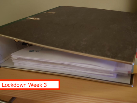 Lockdown Week 3 - 冇眼睇
