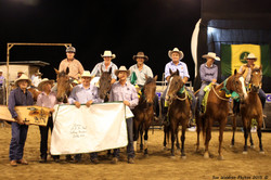 Winner Cody Ryan and place receivers of the Gelding Sale Incentive Draft