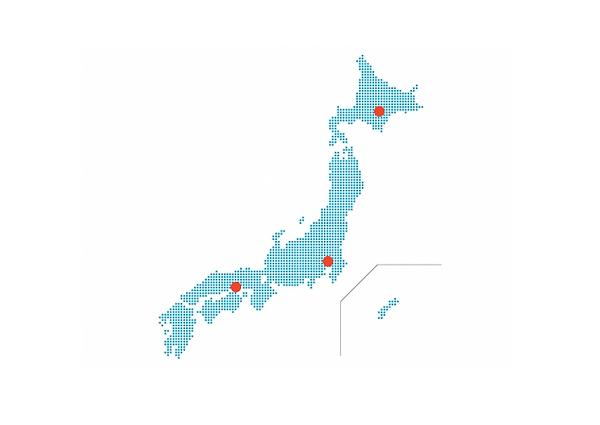 国内拠点地図