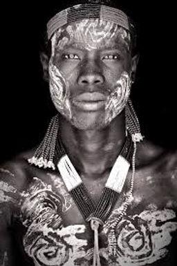 A tribesman of the Omo Delta in Ethiopia