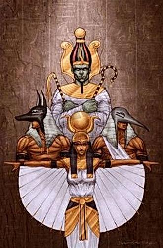 Egyptian judgement throne