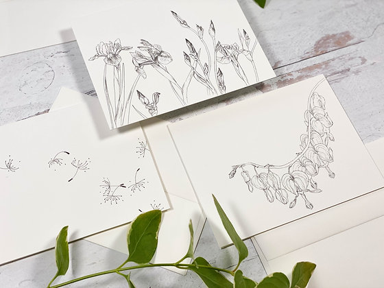 Ink Botanical Card Set