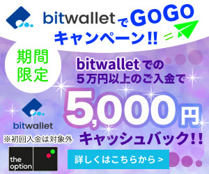 bitwalletでGOGOキャンペーンが帰ってきました!!