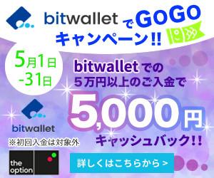 bitwalletでGOGOキャンペーン!!