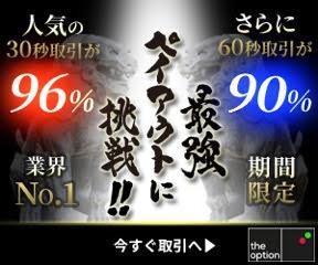 業界No.1!最強ペイアウトに挑戦!!⭐30秒に続き60秒取引も⭐期間限定