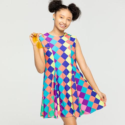 Morgan Dress Diamond Print