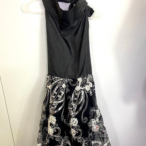 Halter knee length dress