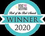 Rent My Wedding 2020 Awards Winner Badge