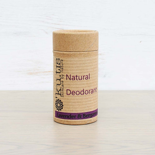 Ku.tis Natural Deodorant, Lavender and Bergamot, 40g