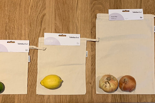 Pack of 3 Produce Bags (Mixed S/M/L)