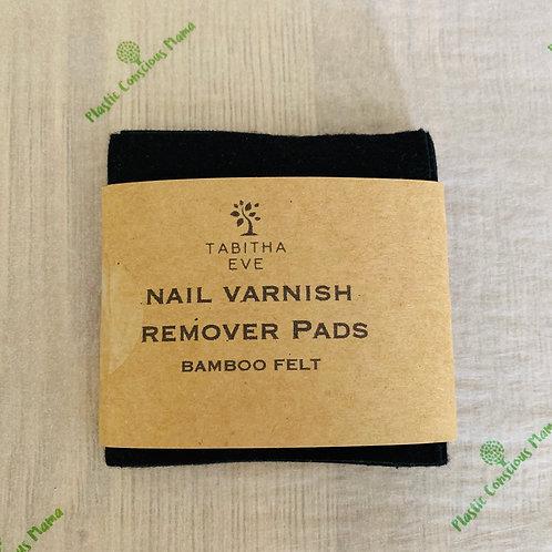 Bamboo felt nail varnish remover pads