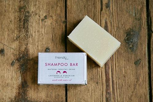 Friendly Soap, lavender and geranium shampoo bar