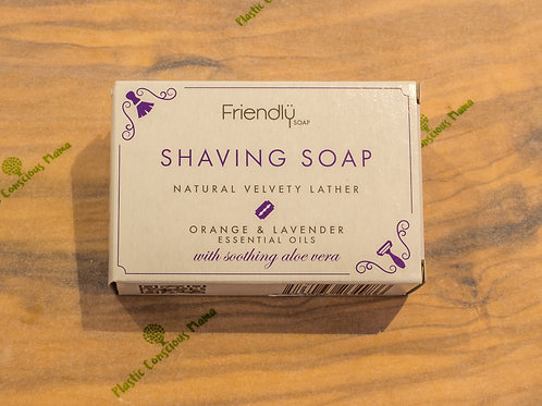 Friendly Soap Orange and Lavender Shave Soap