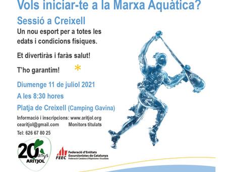 Sessió d'iniciació a la Marxa Aquàtica