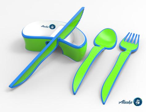 Alaska Airlines Cutlery Design