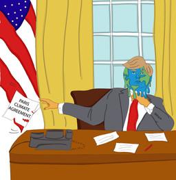 News Paper Political Cartoon: Climate Change