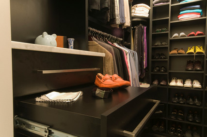 Black Closet Pullout Shelf