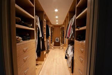 Birdseye maple closet