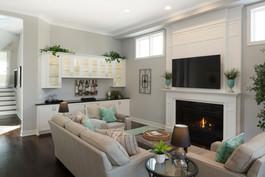 Bar and Fireplace Mantel
