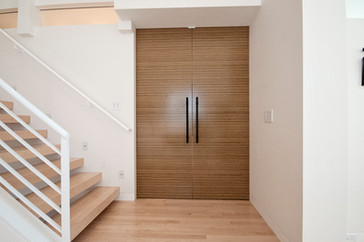 Zebrawood Doors and Floating Stairs