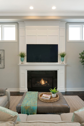 Paneled Fireplace Surround