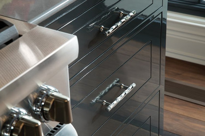 Black Gloss Kitchen Drawer