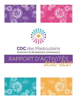 CDC des Maskoutains: rapport d'activités 2020-2021