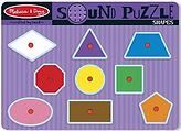 Melissa & Doug 2 Item Bundle 728 Shapes Sound Puzzle + Free Activity Book